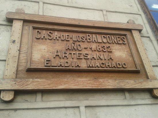 Casa de Los Balcones: entrada