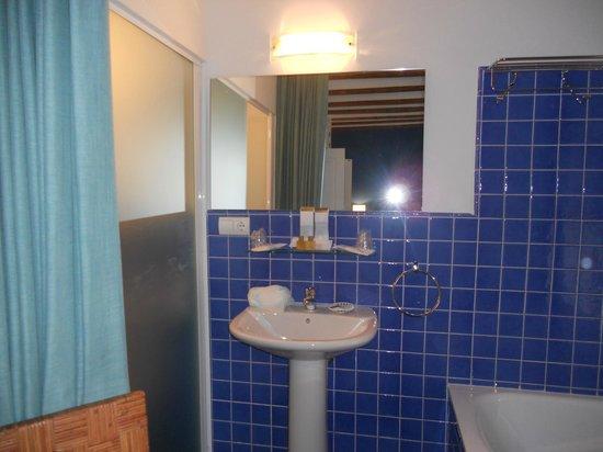 Hotel Hospederia Almunia : Detalle del baño de la 104