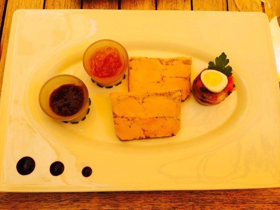 Restaurant La Marquiere : mi cuit de pato, sin secreto.
