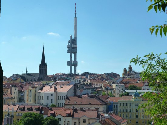 Hotel Victoria : TV Tower/ Zizkov- from other side of town - good land-mark