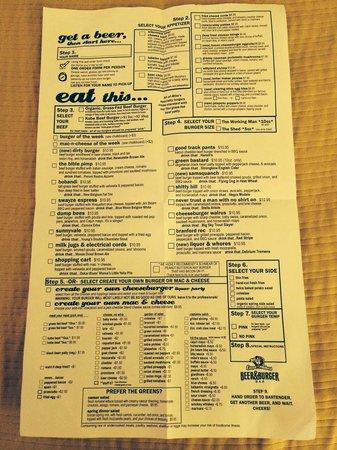 Captain Mike's: The menu