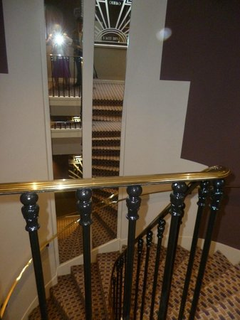 Hotel Galileo: the staircase