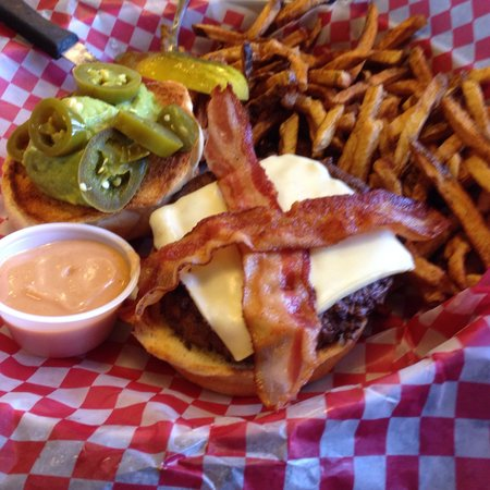 Buck's Sports Grill: Enormous Burger... Never had better