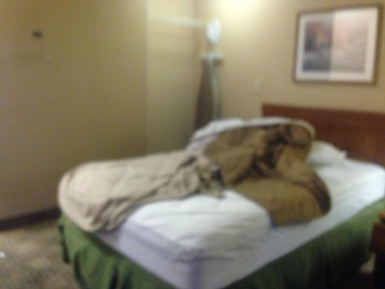 Crossland Economy Studios - Dallas - Mesquite: dirty bed