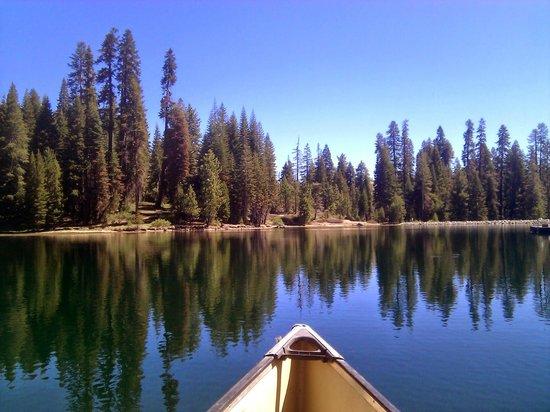 Montecito Sequoia Lodge: Canoeing on the lake