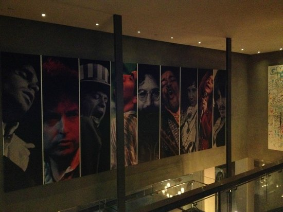 Andaz West Hollywood : Great homage to all the rock stars and bands who have been here