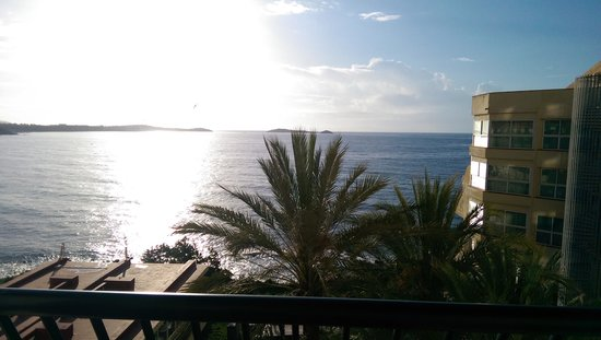 Sol Beach House Ibiza : Afternoon view from room, taken with phone so it doesn't really do it justice