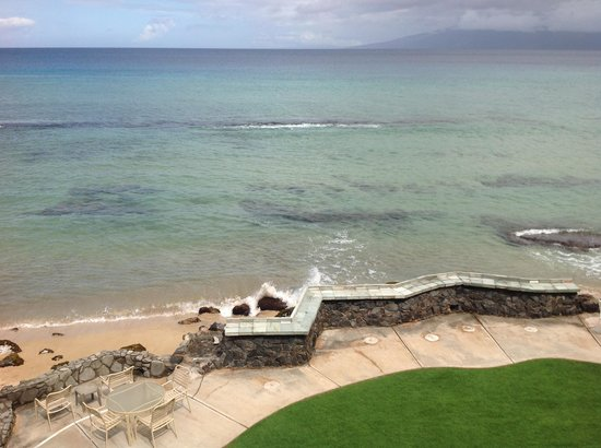 Kaleialoha Condominiums: view from lanai of condo 304.
