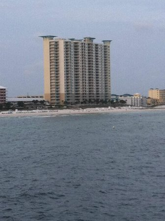 view of the Aqua from the Pier