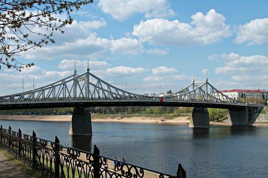 Tver, روسيا: Староволжский Мост