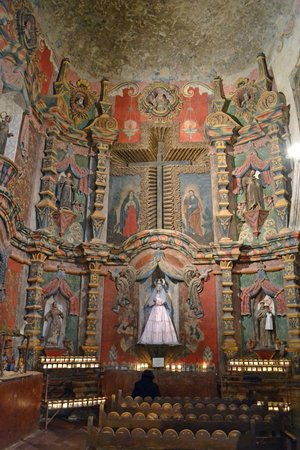 Mission San Xavier del Bac: Inside view