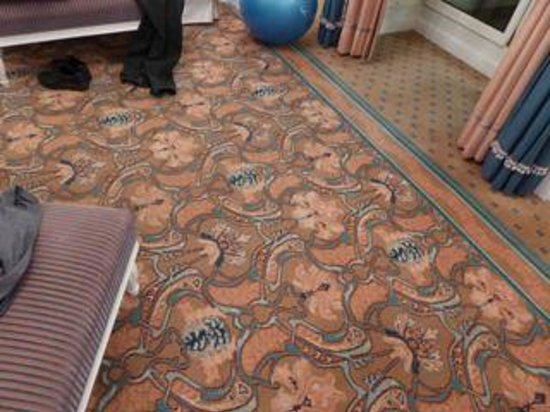 Hotel Bristol Wien: carpet in Penthouse Jr. Suite 657 (looks better in photo)