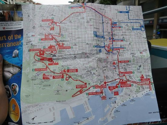 Map Picture of Barcelona Bus Turistic Barcelona TripAdvisor