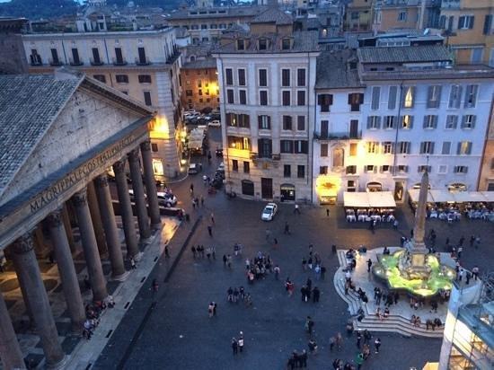 frim the roof top of the Albergo del Senato