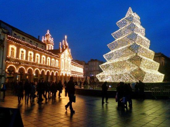 Praca da Republica : Praça da República de Braga no Natal
