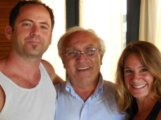 Hotel Grotte - Ristorante: me and my husband with the Owner, Salvatore