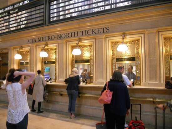 Grand Central Terminal: amazing ticket desks
