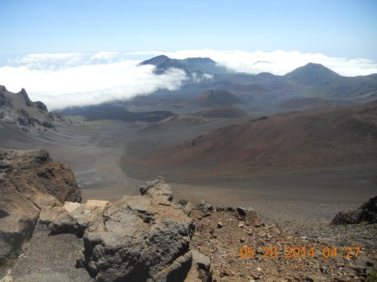 Haleakala Crater: View of Crater