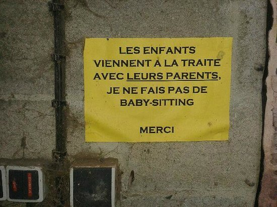 Louvieres, France : Affichette significative de l'esprit local...
