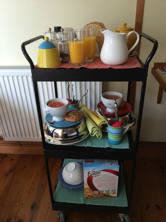 Heatherbell Cottage: Amazing breakfast served in your room