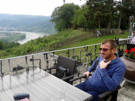 Jakobsberg Hotel- & Golfresort: The view from the Rhine Terrace