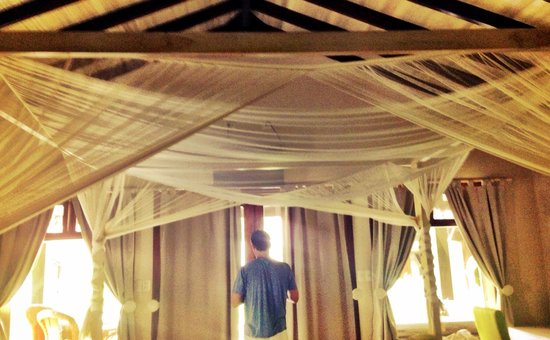 Playa Cielo: Canopy over bed