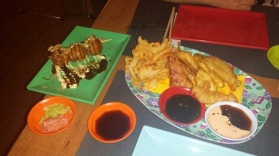I Love Japo: Takoyaki y verdura en tempura! Riquísimo