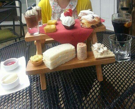 The Walled Garden Bistro Restaurant: Afternoon Tea for 2.
