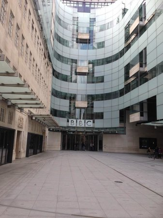 """BBC Broadcasting House: Front of """"new"""" Broadcasting House"""