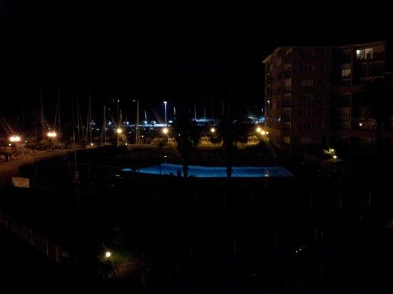 Residence Mer & Golf Port Argelès : la piscine de nuit
