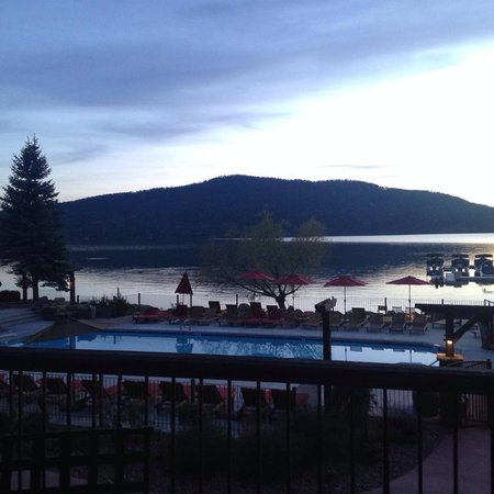 Lodge at Whitefish Lake: View from the patio of Whitefish Lake