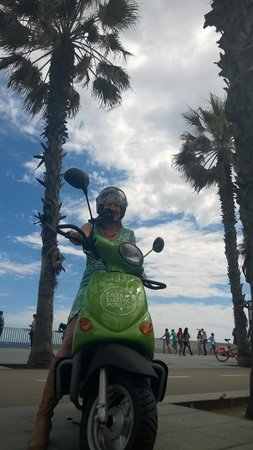 Green Electric Moto: green dress essential