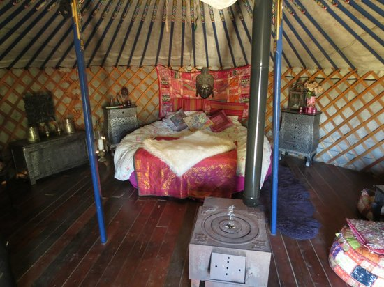 Alora Yurts: Inside the Yurt