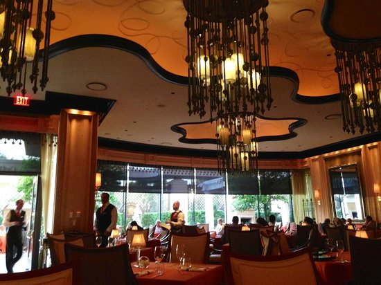 Sinatra : The dining room, and the outdoor patio outside.