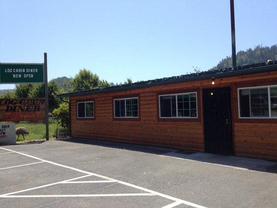 Log Cabin Diner: Real American rural place.
