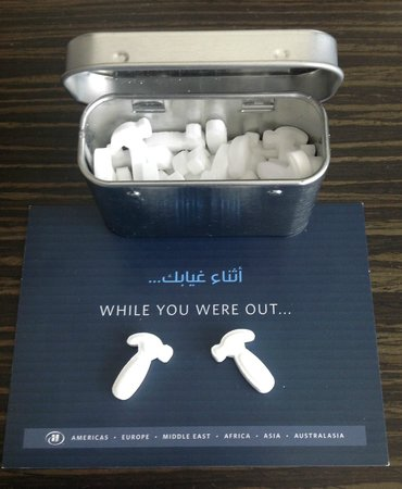 Hilton Capital Grand Abu Dhabi : An extra touch from maintenance, the mints were a delicious surprise
