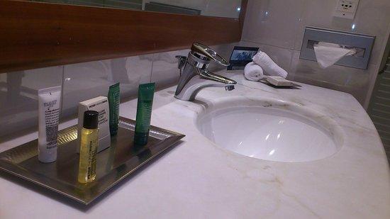 Lyon Marriott Hotel Cité Internationale : HILTON LYON lavabo 2014-04
