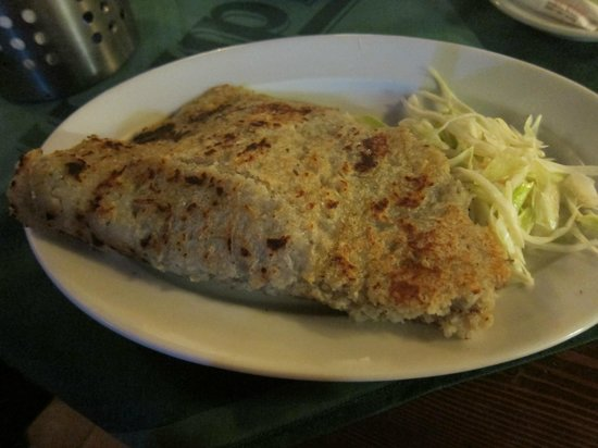 Karluv Sklep: Potato pancake with vegetables