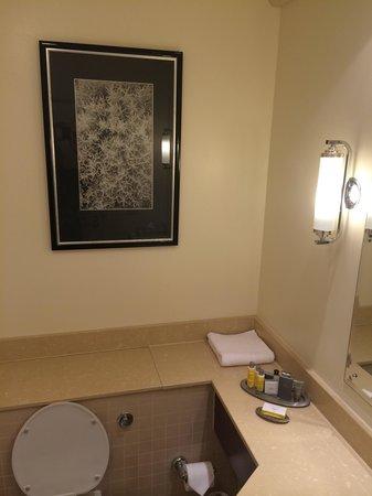 Room 264 bathroom artwork