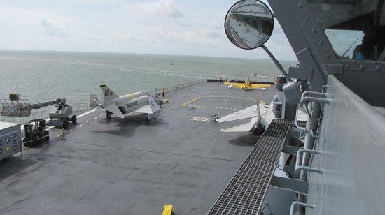 USS LEXINGTON: Part of the flight deck