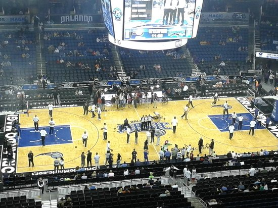 Amway Center: Antes del partido.