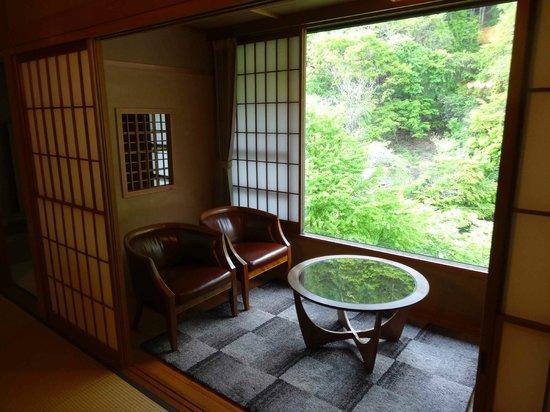 Tobira Onsen Myojinkan: vue de la chambre