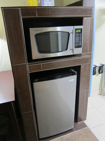 Quality Inn & Suites By The Parks: mini fridge & microwave