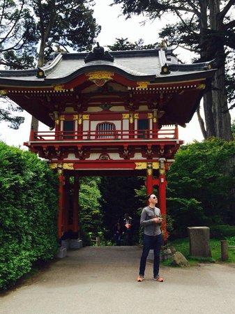 Japanese Tea Garden: My hubby being a tourist