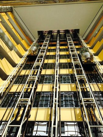 Jumeirah Emirates Towers: Indoor Glass Lifts in Lobby