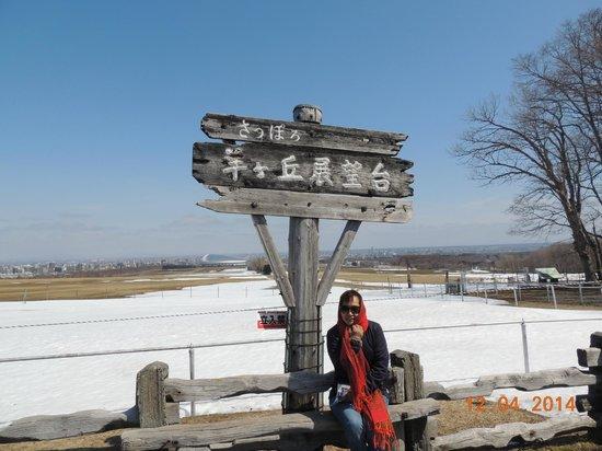 Sapporo Hitsujigaoka Observation Platform : Placa indicativa no local