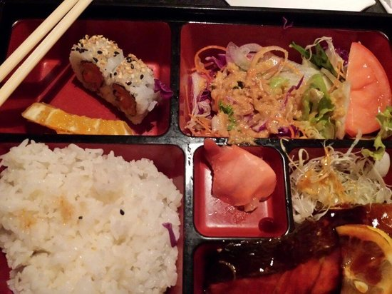 Itami Sushi: Wild caught salmon teriyaki  is soo good..yam tempura sushi is awesome.gottantry it..miss soup s
