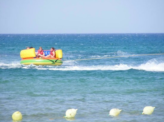 Medina Belisaire & Thalasso: Down on the beach one of the activities. This cost approx £4 per person. Bargain!