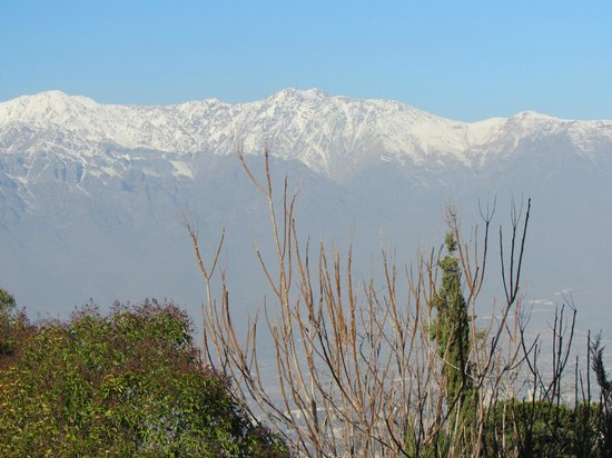 Parque Metropolitano de Santiago - Parquemet : Vista do topo do Cerro.