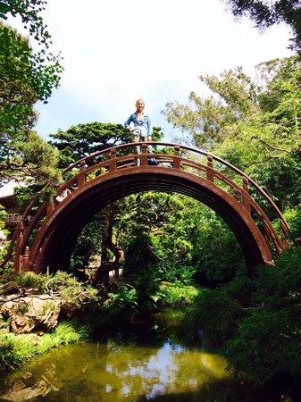 Japanese Tea Garden: On the bridge.